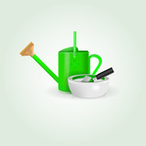 Illustration of watering can