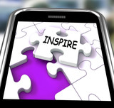 Inspire Smartphone Shows Originality Innovation And Creativity O