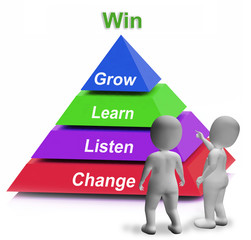 Win Pyramid Means Competition Record Or Goal