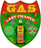 vintage gas station sign, retro style,illustration