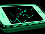 Career Smartphone Shows Occupation Profession Or Work