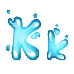 Alphabet water letter K