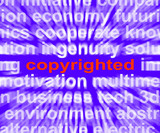 Copyright Word Shows Ownership Of Intellectual Or Patented Prope