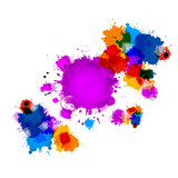 Colorful Vector Stains, Blots, Splashes Background