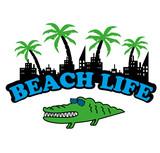 Beach Life Croc poster