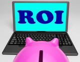 ROI Laptop Shows Investors Returns And Profitability