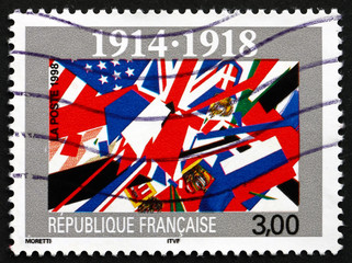 Postage stamp France 1998 End of World War I