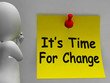 Its Time For Change Note Means Revise Reset Or Transform