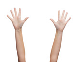 two woman hands waving hands