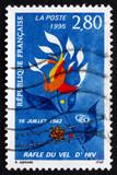 Postage stamp France 1995 Velodrome d'Hiver Raid poster