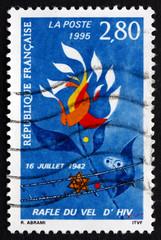 Postage stamp France 1995 Velodrome d'Hiver Raid