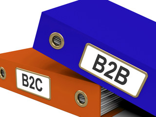 B2B And B2C Folders Mean Company Partnerships Or Customer Relati