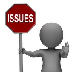 Issues Stop Sign Shows Stopping Problems Difficulty Or Troubles