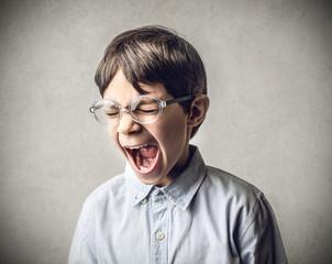 enraged kid