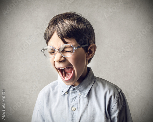 enraged kid