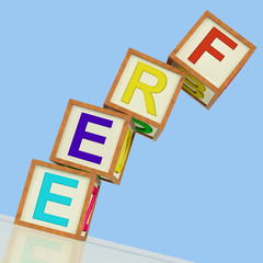 Free Blocks Mean Gratis Or Without Charge