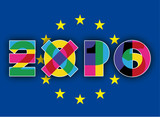 logo expo and european flag