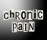 Chronic pain concept. poster