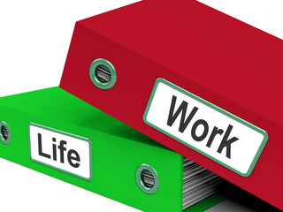 Life Work Folders Mean Balance Of Career And Leisure