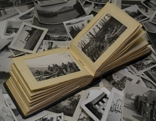 altes fotoalbum, fotos vom krieg