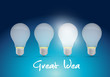 bright great ideas illustration design
