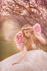 beautiful spring angel