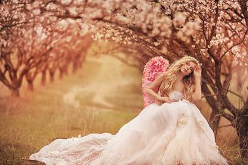 beautiful spring angel
