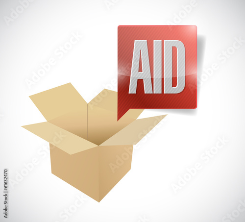 box aid illustration design
