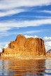 Vertical view on famous lake Powell