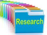 Research Folders Mean Investigation Gathering Data And Analysing