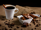 coffee, chocolate and spices