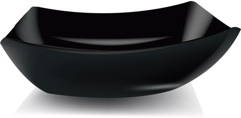 piatto alto nero