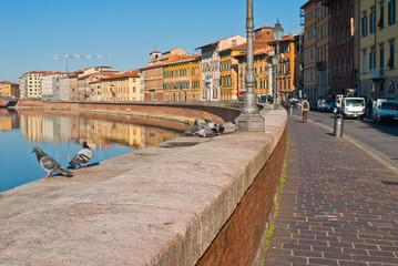 Veduta dei Lungarni di Pisa