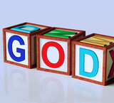 God Blocks Show Spirituality Religion And Believers