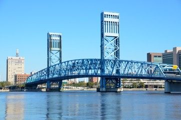 famous blue main street bridge jacksonville florida