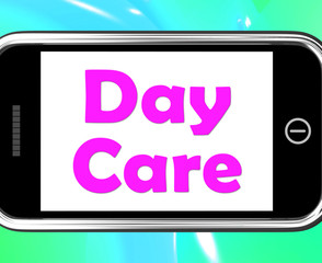Day Care On Phone Shows Children's Or Toddlers Play
