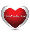Valentines day heart logo vector