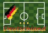 GERMANY FOOTBALL FIELD FLAG STAR VECTOR