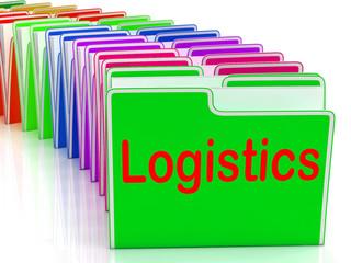 Logistics Folders Mean Planning Organization And Coordination