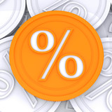 Percentage Sign  Coin Meaning Interest Rates