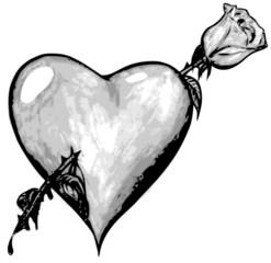 figure rose heart hurts