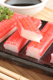Surimi sticks processed seafood made of white fish