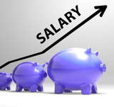 Salary Arrow Shows Pay Rise For Workers