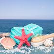 Sea spa setting by seaside