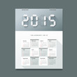 Calendar 2015 Number paper digital design, vector illustration