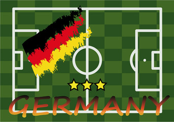 german football field flag logo vector