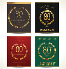 Aniverrsary laurel wreath banner collection, 80 years
