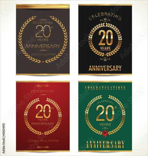 Aniverrsary laurel wreath banner collection, 20 years