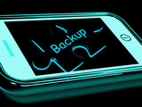 Backup Smartphone Means Copying And Storing Data