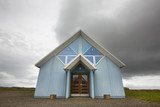 Iceland. East fjords. Wooden and cristal chapel.